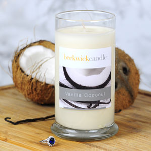 Vanilla Coconut Scented Hidden Ring Candle - candles & home fragrance