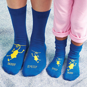 Personalised Cheeky Monkey Daddy Socks - accessories stocking fillers
