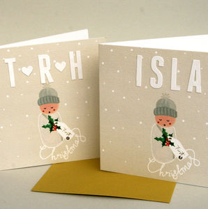 Personalised 'Baby's First Christmas' Christmas Card