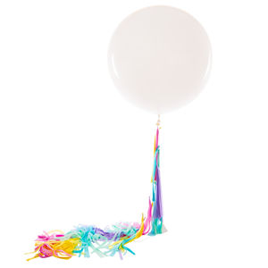 Unicorn Tassel Tail White Giant Balloon