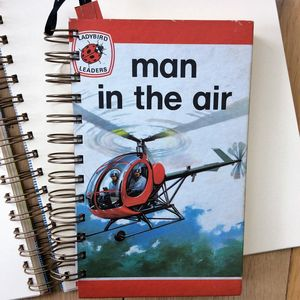 'Man In The Air' Upcycled Notebook - notebooks & journals
