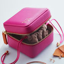 Personalised Luxury Leather Jewellery Box For Travel
