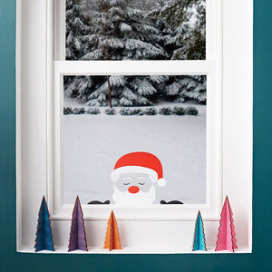 Peeping Santa Window Sticker - top 100 decorations