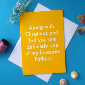 Favourite Father Greetings Card - birthday cards