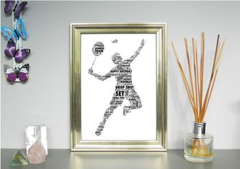 Badminton Player Personalised Print