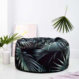 Dark Botanical Adult Bean Bag