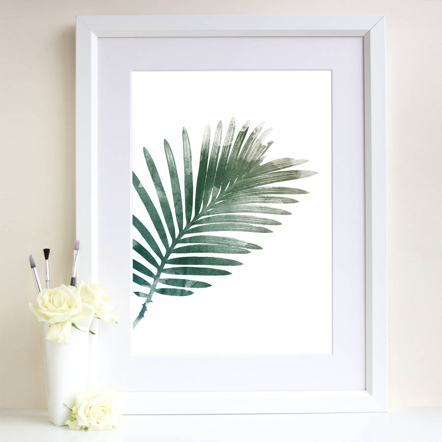 Palm Leaf Art Print By Georgie St Clair