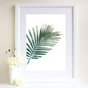 Palm Leaf Art Print - nature & landscape