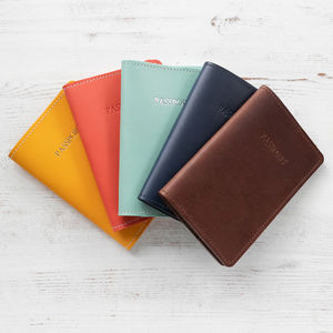 Personalised Leather Passport Case - passport & travel card holders