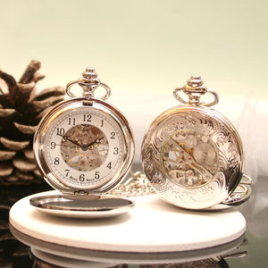 Antique Style Personalised Pocket Watch - personalised jewellery