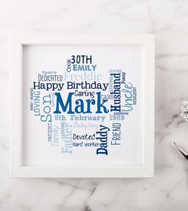 Personalised 30th Birthday Gift For Him