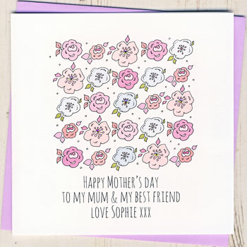 Personalised Best Friend Mother's Day Card