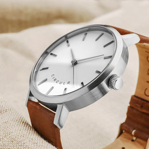 Maple Leather And Silver Watch - watches