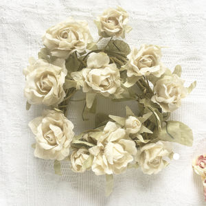 Rose Fabric Flower Garland - room decorations