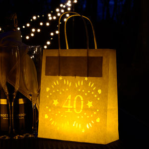 40th Birthday Lantern Bag, Party Decorations