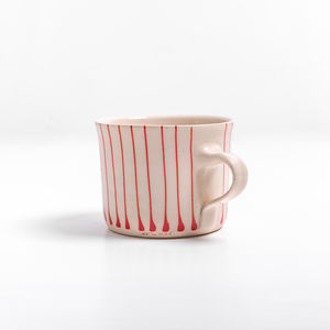 Wonki Ware Squat Stripe Mug - mugs