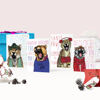 Caroling Cats Christmas Card Pack