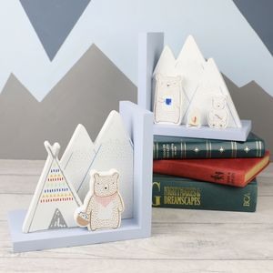 Wooden Bear Camp Bookends