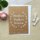 Mother And Father Of The Groom Thank You Card