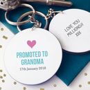 Personalised Promoted To Nanny / Grandma Keyring
