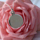 Dream Sterling Silver Disc Pendant