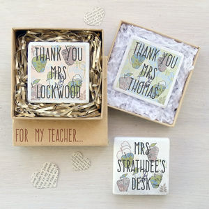 Personalised Teacher Fridge Magnet - gifts for teachers