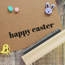 Happy Easter Contemporary Rubber Stamp