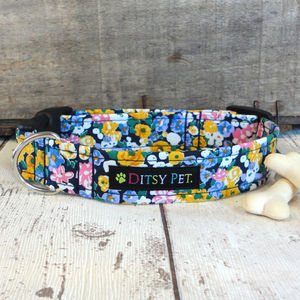 Freya Floral Dog Collar