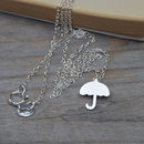 Umbrella Necklace In Sterling Silver