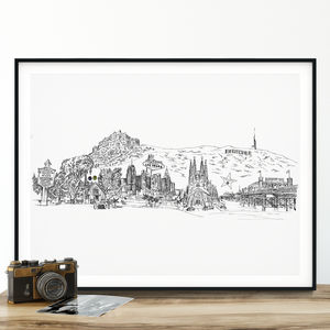 Personalised Your Skyline Illustration Print - gifts for couples