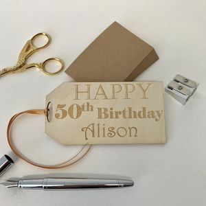 Personalised Oversized Birthday Gift Tag