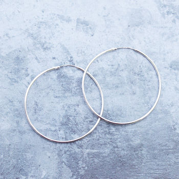 Delicate Sterling Silver Medium Hoops