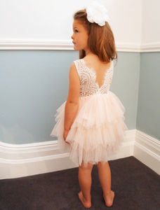 Aria ~ Party Dress White | Apricot | Off White | Lilac