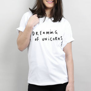 Dreaming Of Unicorns T Shirt - t-shirts