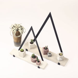 Concrete And Steel Triangular Shelf