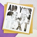 Personalised Photo Fathers Day Card 'Add Your Own Text'