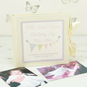 Personalised Bunting Christening Photo Album - christening gifts