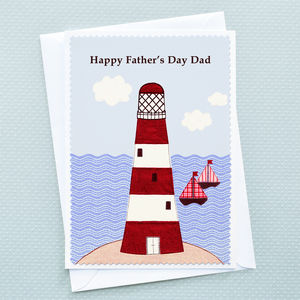 'Lighthouse' Personalised Fathers Day Card