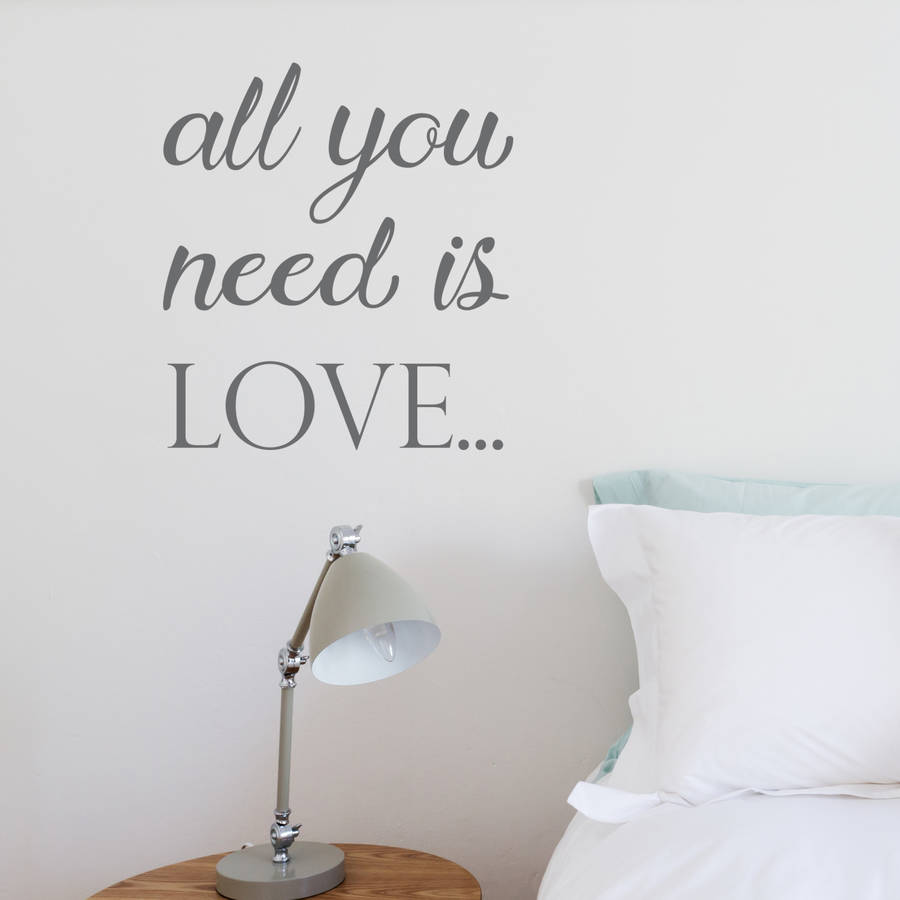 all you need is love wall sticker by nutmeg