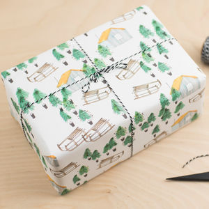Luxury Nordic Cabin Christmas Gift Wrap - cards & wrap