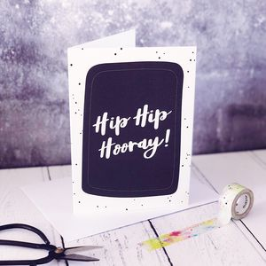 Hip Hip Hooray! A6 Card - what's new