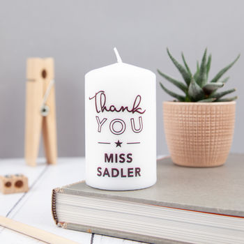 Personalised Teacher Thank You Candle