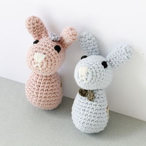 Hand Crochet Bunny Rattle - toys & games