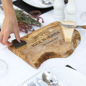 Personalised Wooden Chopping/Cheese Board - for the couple