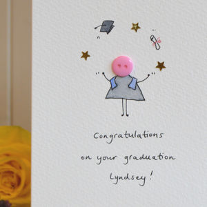 Personalised 'Button Graduation' Handmade Card - shop by category