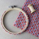 Decorated Embroidery Hoop. Liberty's Of London Hoop