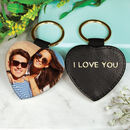 Personalised Photo Message Heart Keyring