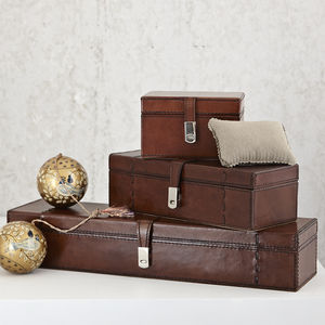 Personalised Leather Watch Box For Three, Five Or One - boxes, trunks & crates