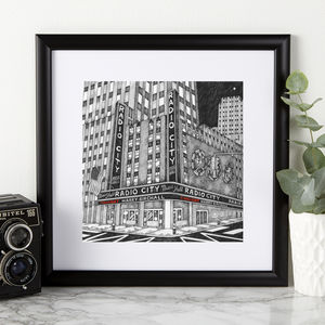 Personalised Radio City Print - posters & prints
