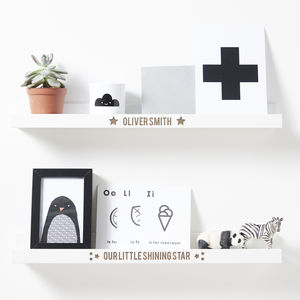 Personalised Nursery Shelf